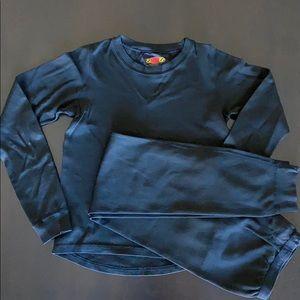 Terramar Black Base Layer Set for Boys, Size L
